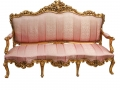 "This Pink and Gold Rococo Sofa that sold for $170 and makes me want to purr, ""Welllllcome to my boudoir..."""