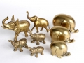 This collection of vintage brass elephants that sold for $26 (was totally thinking of flipping them for a nice little profit!)