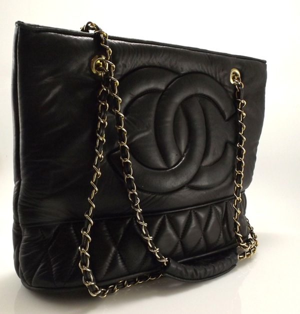 Vintage Chanel Quilted Lambskin Handbag that sold for $625.