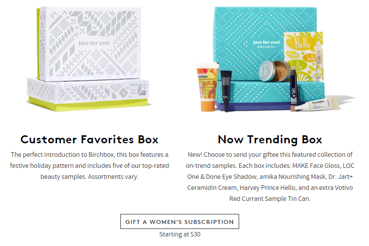 birchbox gift subscription