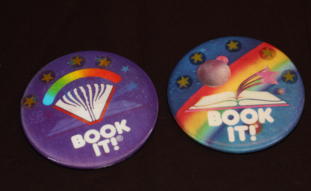 book it buttons 90s