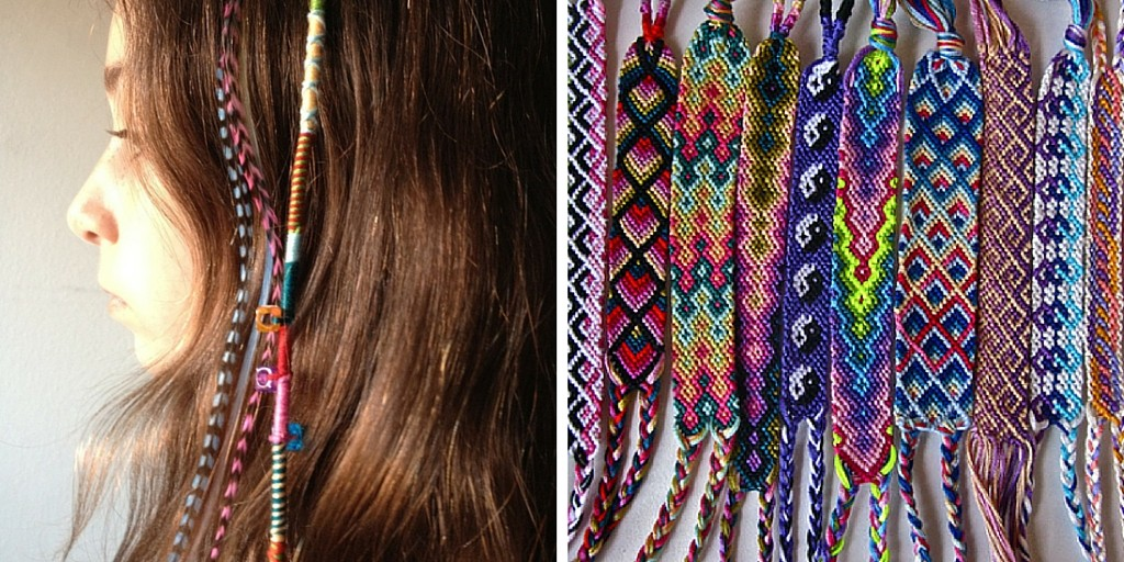 hair wraps and friendship bracelets 90s