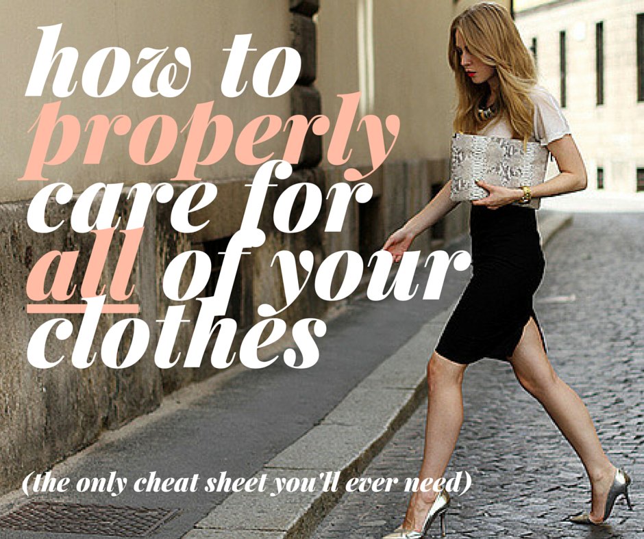 how to care for designer clothes