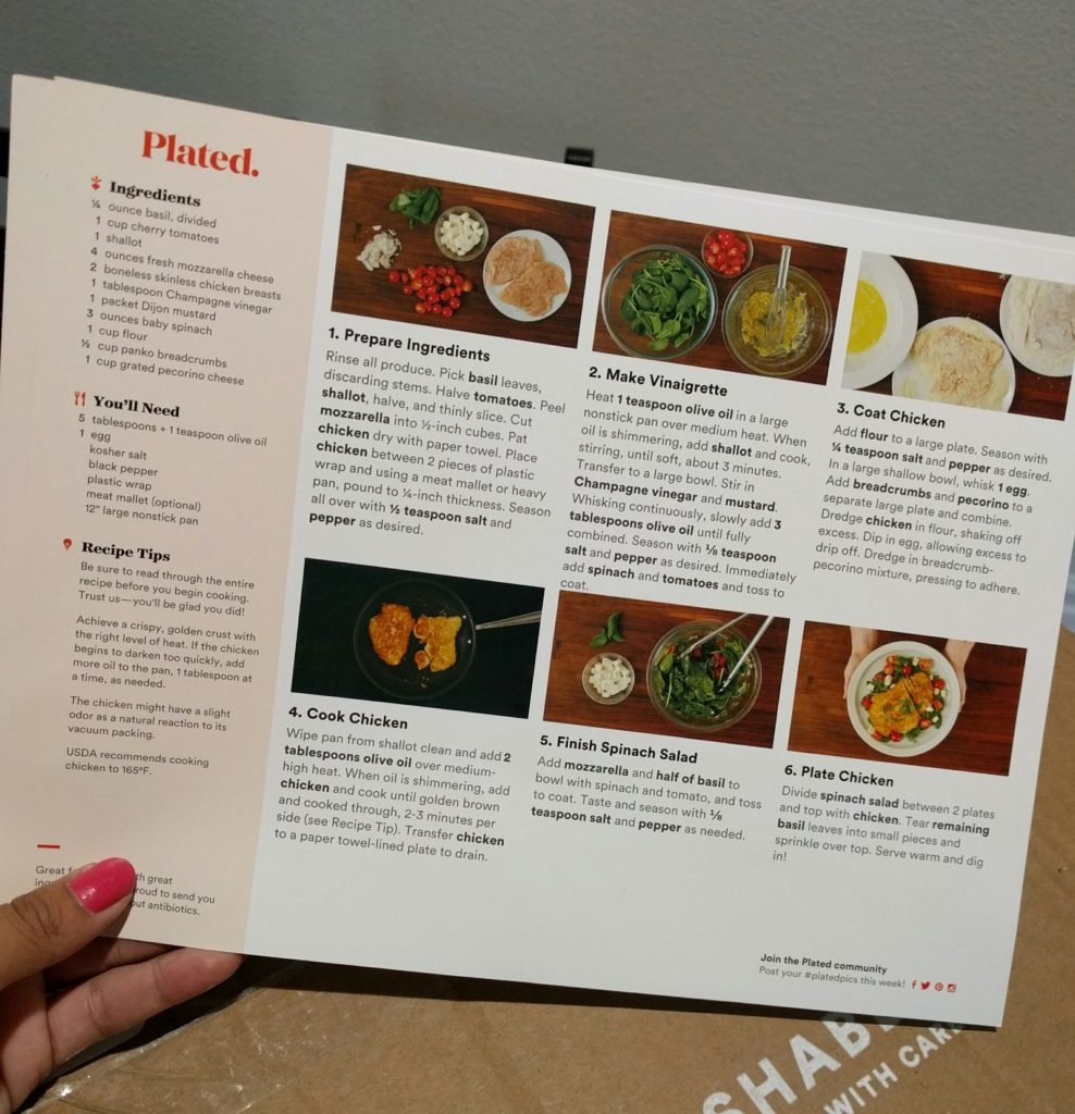 cooking with plated - recipe card